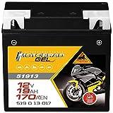 Panther Motorradbatterie GEL 12V 19Ah 51913...
