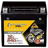 Panther YTX20L-BS Motorrad Batterie GEL 12V 18Ah...