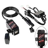 MOTOPOWER 3.1Amp Motorrad Dual USB Ladegerät SAE...