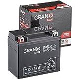 CranQ 12V 10Ah 180A AGM-Batterie YTX12-BS...