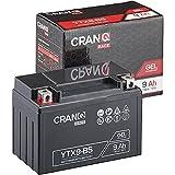 CranQ Motorradbatterie YTX9-BS 9Ah 130A 12V...