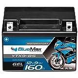 Motorradbatterie GEL 12V 9Ah BlueMax YTX9-BS...