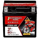 Panther Motorradbatterie AGM 12V 4Ah 50412...