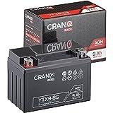 CranQ 12V 9Ah 120A AGM-Batterie YTX9-BS...