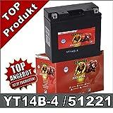 Banner Blei Gel Motorrad Batterie YT14B-4 11Ah...