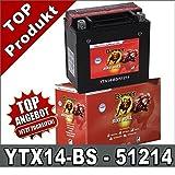 YTX14-BS 51214B Banner 51214B Motorrad Batterie