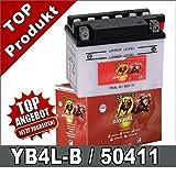 Banner Motorrad Batterie YB4L-B 4Ah 12Volt 50411